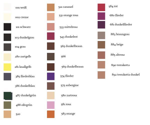 Lidschatten matt Grimas Farbauswahl Tabelle